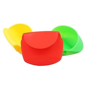 Salsas y condimentos, color Set de 3 silicona aperitivo vasos para salsas y aliños ideal