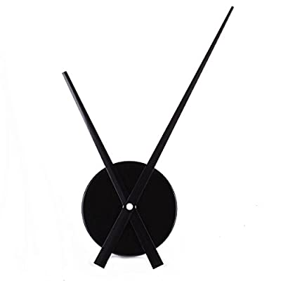 YESURPRISE Modern Aluminum 3D Clock Hands Movement Time for Wall Clock House DIY Room Home Decorations Mini Black - [100% Satisfaction Guaranteed]: Our lifelong guarantee warranty for good quality and return policy without any worries. Yesurprise lifetime friendly satisfying customer service will be always with you whenever you need our technical support. [Comfortable Size & Material]: Hour hand length: 23.5cm; Minute hand length: 31.5cm; Clock machine face: 10.4cm; Material: Aluminum clock pointer [Package Contents]: 2PCS Clock Hands + 1x clock Movement (NO battery) - wall-clocks, living-room-decor, living-room - 31sgNuihX3L. SS400  -