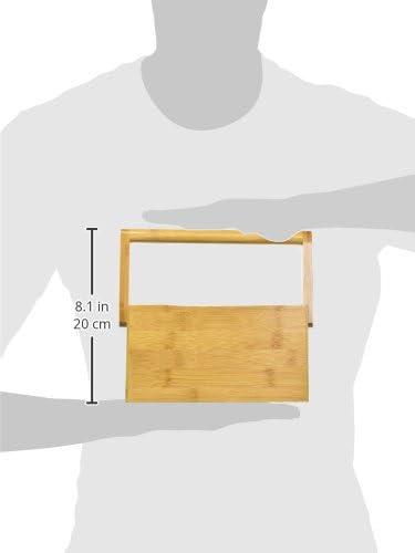 Trademark Innovations Utensilienhalter aus 100/% nat/ürlichem Bambus mit Griff