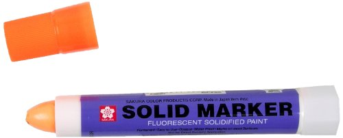 Sakura Solidified Paint Solid Marker, Fluorescent Orange (Box of 12)