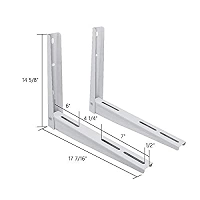LBG Products Universal Wall Mounting Bracket for Ductless Mini Split Air Conditioner Units,Heat Pump Systems