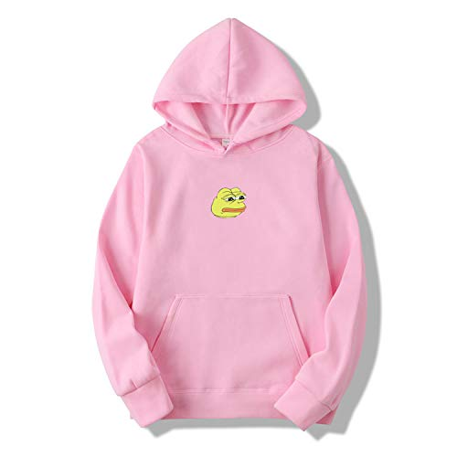 (New-Challenge Hoodies Men/Women Casual Hip Hop Japan Harajuku Sweatshirt Winter Fleece Kept Warm Funny Pullover Hoody,Pink,M)