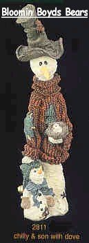 - Boyds Bears Chilly & Son Snowman Statue