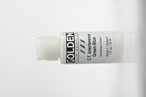 Golden Fluid Acrylic Paint 1 Ounce-Interference Green (Interference Acrylic Paint)