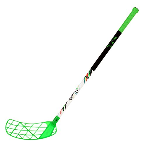 252db939366 ACCUFLI Floorball Stick AirTek A80 Youth Left Stick Length 36inch Curved  Blade (Green)