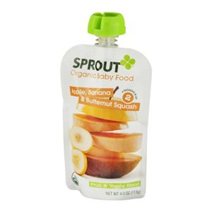 Squeezable Case (Apple, Banana and Butternut Squash Squeezable Snack 4 Ounces (Case of 10))