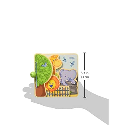 HABA Zoo Friends Wooden Book with Easy Turn Pages - 10 Months and Up: Toys & Games