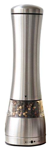 (Sage Kitchenware MEC Stainless Steel Black Pepper or Salt Mill Strong Ceramic Grinder Mechanism, 8.5