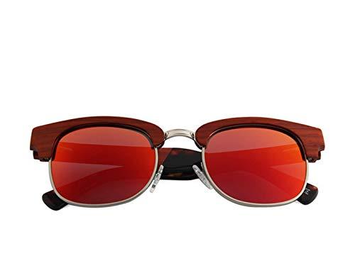 Red Playa Polarizadas color Conducción Montura Uv Sol Protección A Semi Gafas Pollusui Las De Green Hechas sin Mano Mujeres Madera RTIqZHa4xw