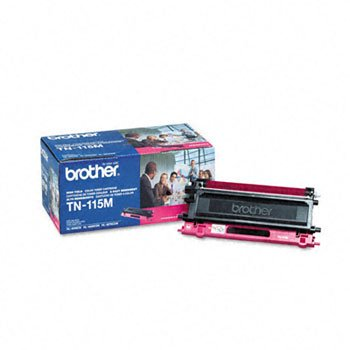 Brother® TN-115M Toner Cartridge, 4000 Page-Yield, Magenta
