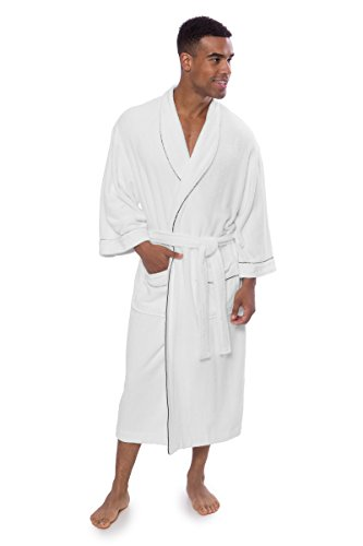 - Texere Men's Luxury Terry Cloth Bathrobe (EcoComfort, Natural White, XXLXXXL)