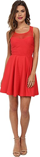 BCBGeneration Women's Empire Dress with Back Tie, Passion, 8