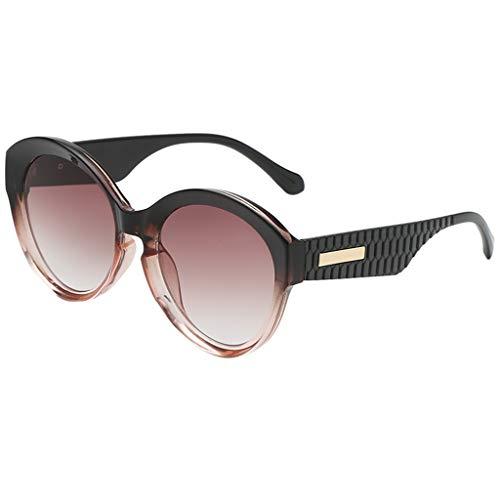 iNoDoZ Vintage Sunglasses for Women Men Classic Retro Round Sunglasses Gradient Frame