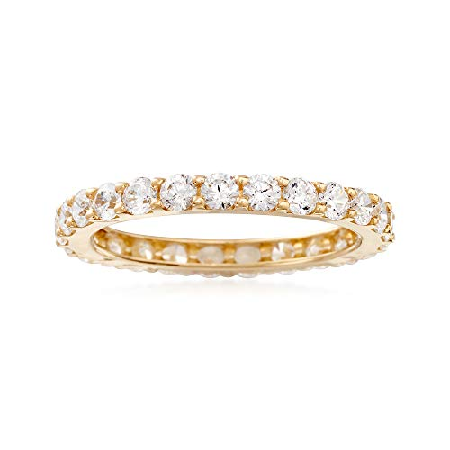 Ross-Simons 1.25 ct. t.w. CZ Eternity Band in 14kt Yellow -