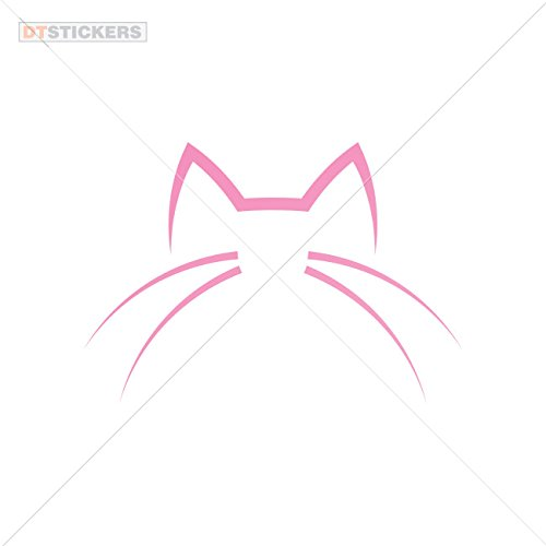 Vinyl Sticker Decals Domestic Cat Sports Bike poop interested fiolntovy breed (4 X 2,76 Inches) Pink
