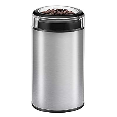 Electric Coffee Grinder, TOBOX Multifunctional Stainless Steel Blade Coffee Grinder Fast Grinding Coffee Beans, Nuts, Grains, Spices by TOBOX
