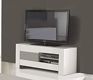 Kasalinea Mueble TV Color Blanco y Gris Lacado Design Flavie ...
