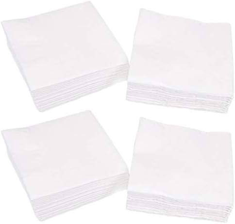Yarnow 300 Blatt Einweg Weiße Servietten Formelle Abendessen Jubiläum Und Hochzeitsservietten für Tische Badezimmer