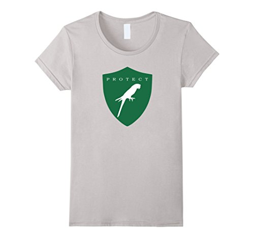 Womens Protect Macaws Endangered Species Eco Awareness T-Shirt Medium Silver (Macaw Species)