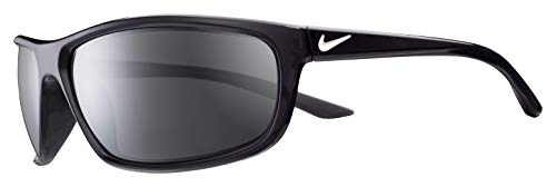 Nike Men's Rabid Rectangular Sunglasses, ANTHRACITE/WHITE, 64 mm ()