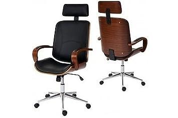 Design Burostuhl Drehstuhl Holz Chefsessel Designer Moderner