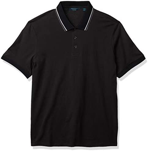 Perry Ellis Men`s Pima Cotton Short Sleeve Polo Shirt