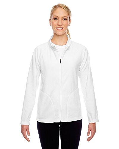 Team 365 Ladies' Campus Microfleece Jacket M White