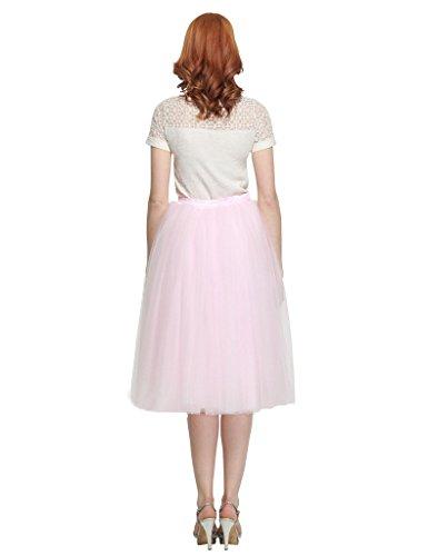 BESILA - Falda de tul estilo 50s retro vintage, midi, para disfraz Marfil