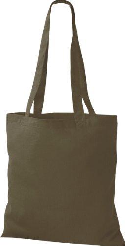 ShirtInStyle Premium Stoffbeutel Baumwolltasche Beutel Shopper Umhängetasche, Farbe olive