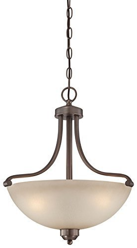 Minka Lavery Paradox 1426-281 Bowl (20''H x 18''W) 3 Light 300 watt Pendant in Bronze by Minka-Lavery by Minka