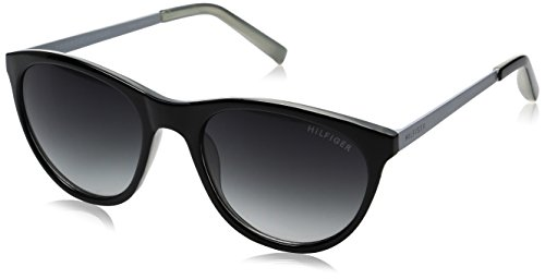 Tommy Hilfiger Women's Lad205 66396796 Square Sunglasses, Black Gray/Smoke Gradient, 53 - Sunglasses Hilfiger Women Tommy