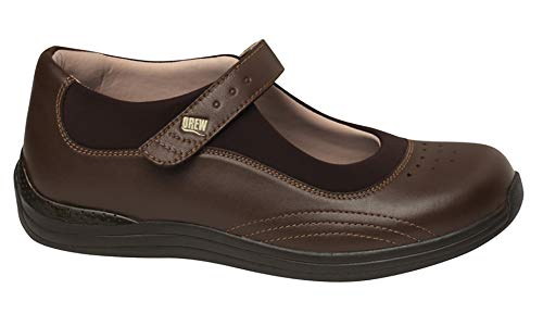 Drew Shoe Women's Rose Mary Jane,Brown Combo,5 W US
