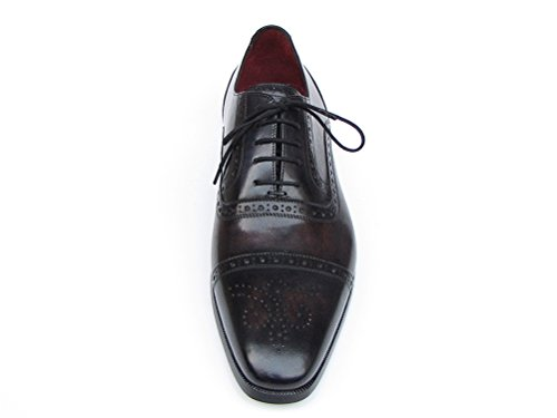 amp; Parkman scarpe bronzo uomo Captoe 77U844 nero Paul da ID stringhe OaqC1T