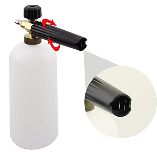 Lljin Adjustable Pressure Washer 1 Liter Foam Pot Spray Cleaning Quick Release Foam