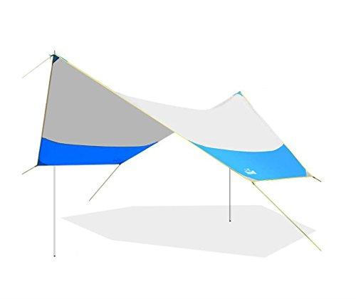 あいまいなペダルティーンエイジャー10トン防水日焼け止めを折りたたみ屋外10トンのキャンプテントビーチテント大きなパーゴラの天蓋のテント (色 : 青, サイズ さいず : 2.5kg)