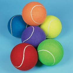 Jumbo 8 Inch Tennis Ball (Receive 1 Per Order) Assorted colors