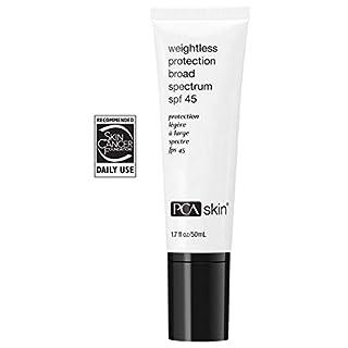 PCA SKIN Weightless Protection Broad Spectrum SPF 45, Zinc Oxide Ultra Lightweight Facial Sunscreen, Ocean Friendly Formula, 1.7 fluid ounce