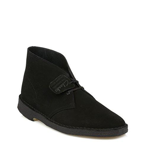 Clarks Originals  Desert Boot, Herren Stiefel Black Mono D12