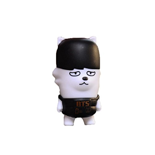 AhlsenL BTS Bangtan Boys Cute Cartoon Keychain Doll for Womens Bag or Cell Phone or Car Pendant (Jimin) (Cartoon Flashlight Keychain)
