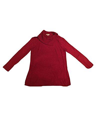 ann-taylor-loft-womens-burgundy-asymmetrical-cowl-neck-sweater-m-xxl-xxl