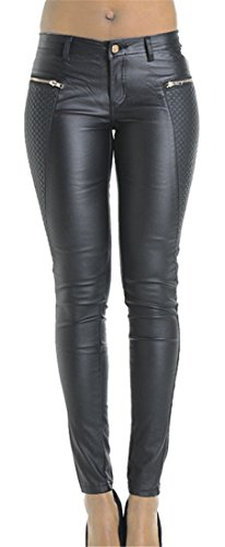 Ladies Leather Motorcycle Trousers - 6