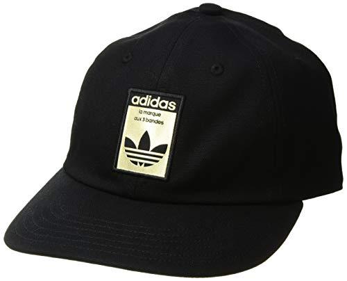 adidas Men's Originals Relaxed Base Strapback Cap, black/gold, One ()