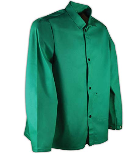 "Magid SparkGuard Flame Resistant 12 oz. Cotton Jacket, 30"", Green, 4XL"