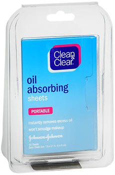 Clean & Clear Oil Absorbing Sheets - 50 Sheets, Pack of 5