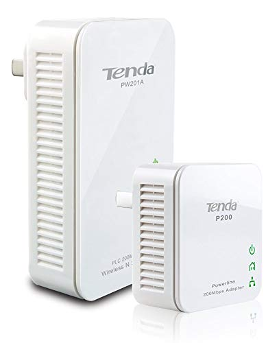 Tenda Wireless N300 Powerline Extender Kit PW201A + P200 by Tenda