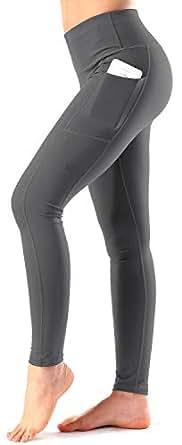Women's High Waist Yoga Pants Side & Inner Pockets Tummy Control Workout Running 4 Way Stretch Sports Leggings