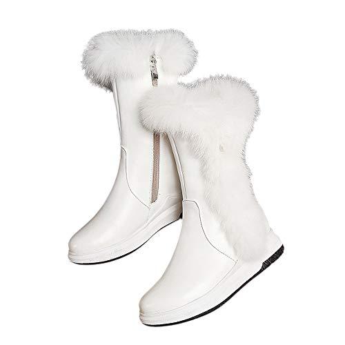 ❤ Botas de Nieve para Mujer, Cremalleras Laterales de Round Head Slope Fashion para Mantener cálidas Las Botas de Las Mujeres Absolute: Amazon.es: Ropa y ...