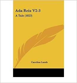 ADA Reis V2-3: A Tale (1823)- Common