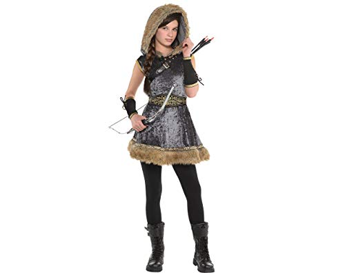 Amscan Miss Archer Halloween Costume for Girls, Extra Large, with Included Accessories -