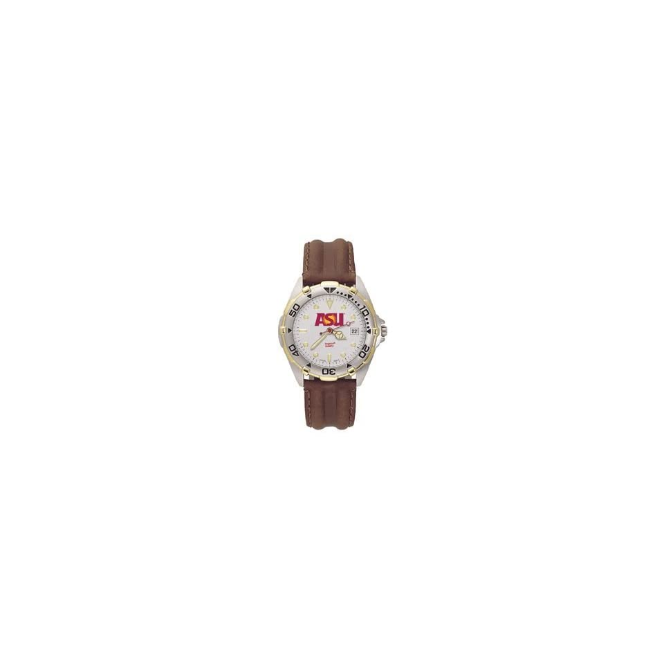 Arizona State Sparky All Star Mens Leather Watch